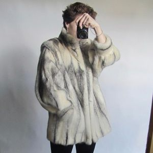 Luxury Cross Mink Fur Coat